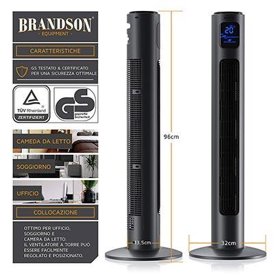 Brandson - Ventilatore a colonna con ottimo rapporto qualità prezzo