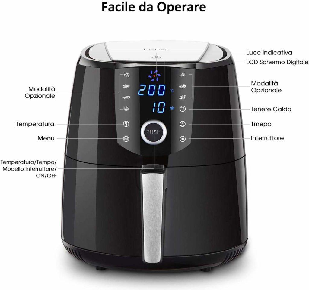 Migliori friggitrici - Habor friggitrice ad Aria 5,5 L